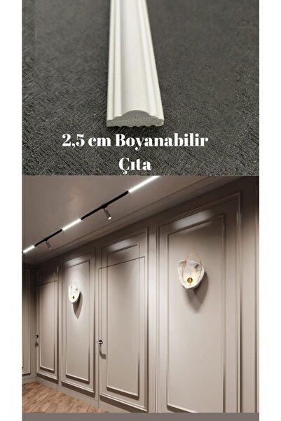 Duvar Çıtası 2.5 Cm Boyanabilir 1 Boy 240 Cm (SB-2513) Duvar Süsleri