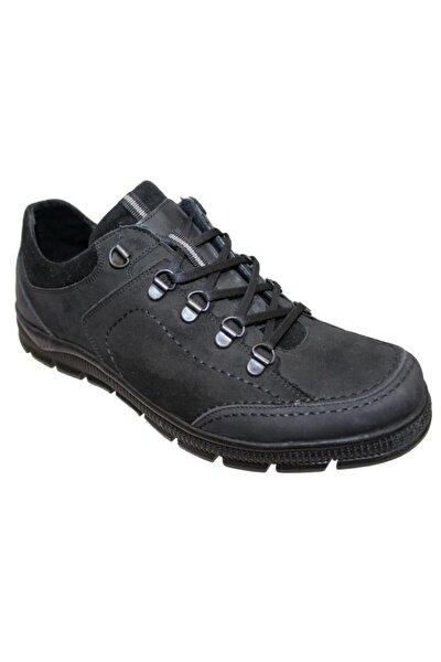 Erkek Siyah Kışlık Suya Soğuga Dayanıklı Deri Ayakkabı