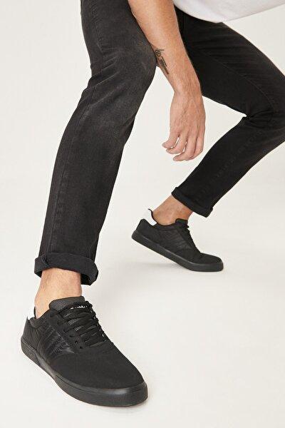 Erkek Siyah Siyah Spor Sneaker Ayakkabı