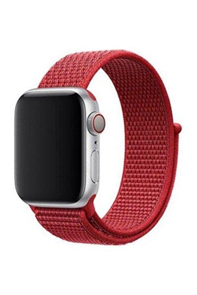 Kırmızı 38-40mm 3 4 5 6 Uyumlu Apple Watch Dokuma Kordon
