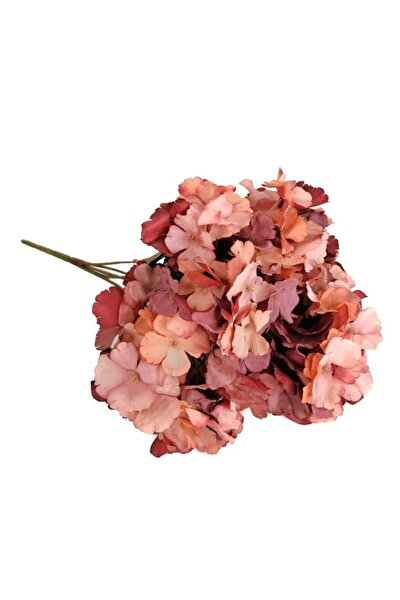 Yapay Çiçek Ortanca Çiçeği Sonbahar Renkleri 43 cm