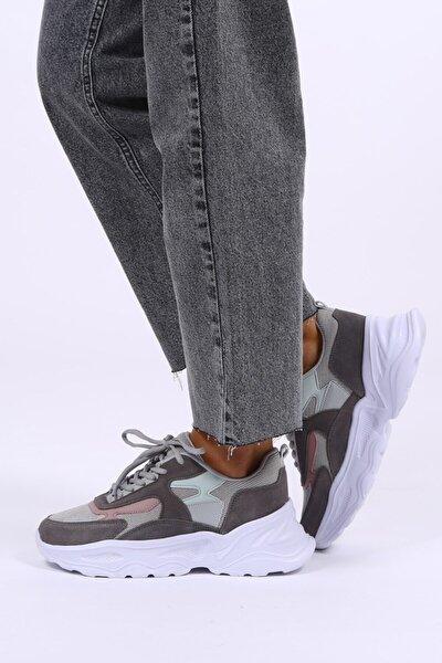 Antrasit Hakiki Deri Sneaker