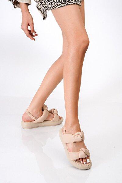 Kadın Çift Bant Bağlı Sandalet