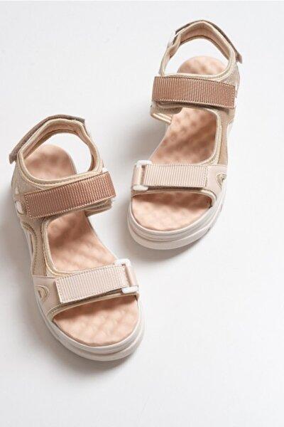 Kadın Bej Rose Bantlı Sandalet 4740