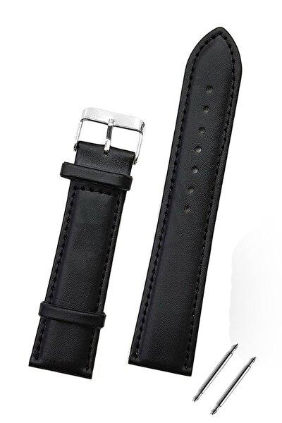 Huawei Watch Gt Gt2 Gt2e 46mm Saat Uyumlu 22mm Siyah Renk Klasik Deri Saat Kordonu