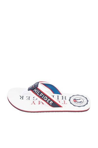 Erkek Beyaz Terlik Hilfiger Maritime Beach Sandal FM0FM03385
