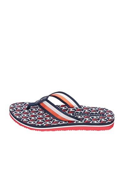Kadın Mavi Terlik Th Monogram Flat Beach Sandal FW0FW05670
