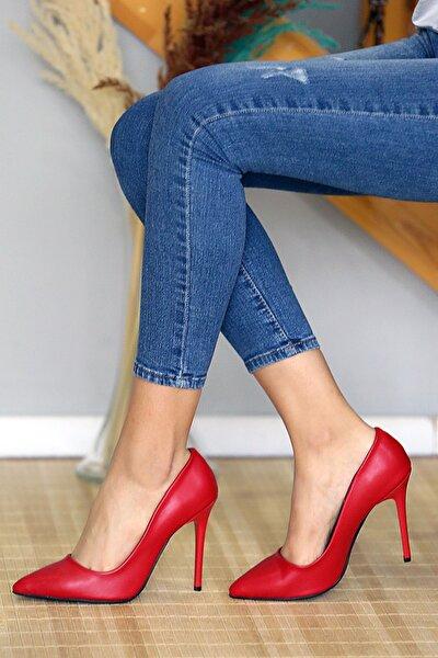 Kırmızı Cilt Kadın Stiletto