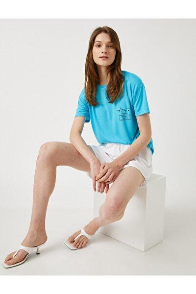Kadın Okyanus Mavisi T-Shirt