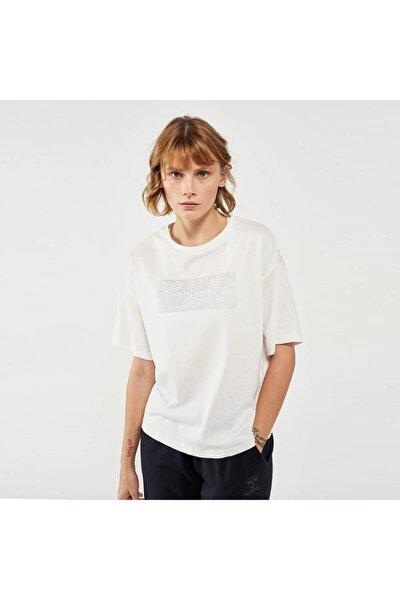 Kadın Beyaz Kısa Kollu Tişört
