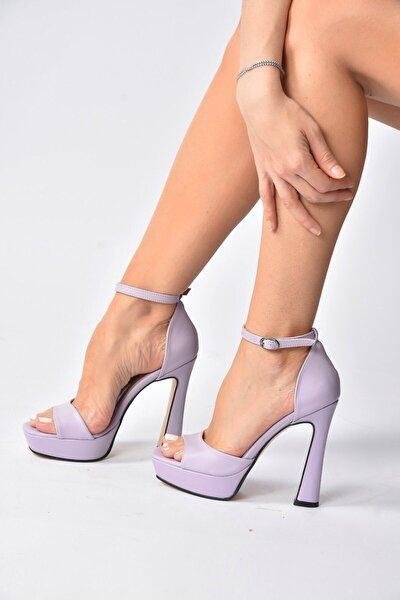 Lila Topuklu Kadın Ayakkabı K404580109