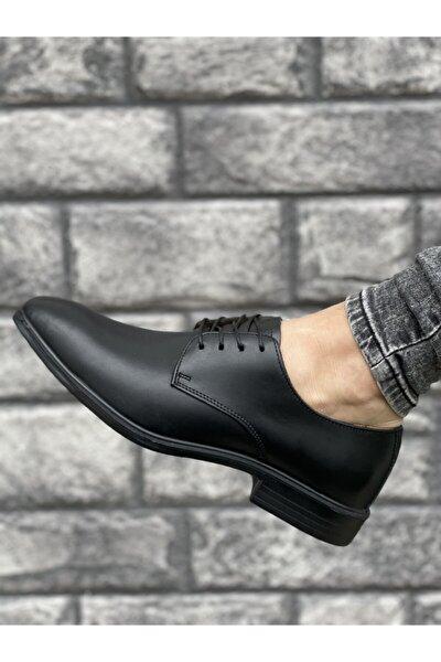 Hakiki Deri Erkek Siyah Klasik Ayakkabı