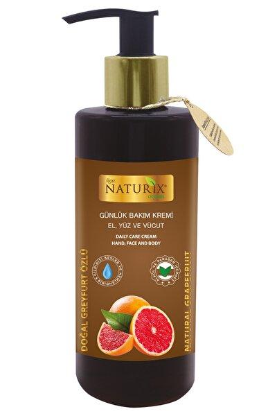 Greyfurt Meyve Özlü 250 ml Günlük Bakım Kremi Organik El - Yüz - Vücut Bakım Kremi