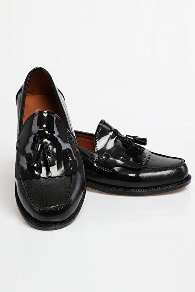 Rugan Siyah Unisex Corcik Günlük Ayakkabı