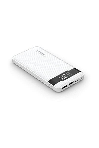 Led Göstergeli Taşınabilir Şarj Cihazı 10.000 Mah Beyaz