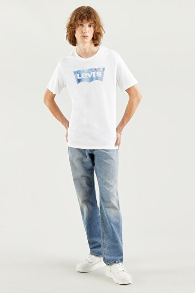 Erkek Housemark Graphıc Tee Ssnl Bw Fıll Whıt T-Shirt 22489-0343