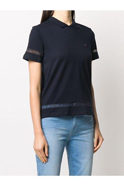 Dantel Detaylı Polo Yaka Tshirt