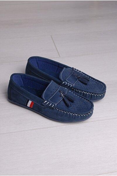 Erkek Çocuk Lacivert Püsküllü Ayakkabı