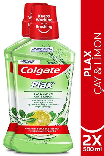 Plax Çay ve Limon Plağa Karşı Alkolsüz Ağız Bakım Suyu 500 ml x 2 Adet