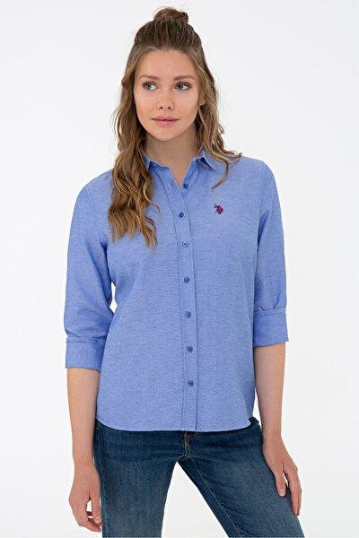 Mavı Kadın Gömlek