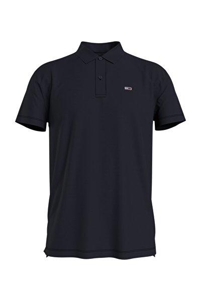 Erkek Siyah Polo Yaka T-Shirt Tjm Essential Jersey Polo DM0DM10322