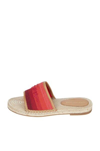 Kadın Turuncu Sandalet Tommy Gradient Mule Espadrille FW0FW05625