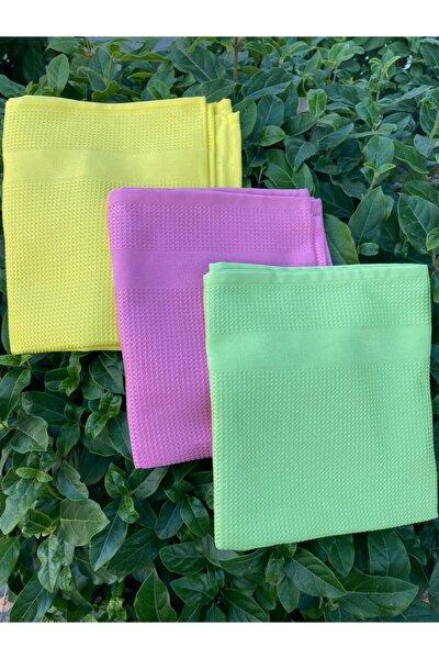 ( 3 Adet ) Cam Bezi Mikrofiber Genel Temizlik Bezi Çok Renkli 42 X 68 Cm