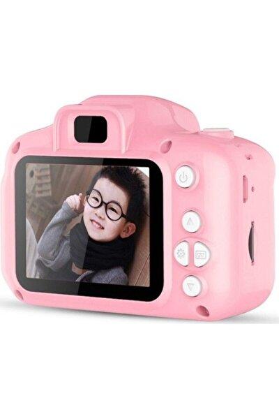 Çocuk Pembe Mini Hd 1080p Dijital Fotoğraf Makinesi Cmr9