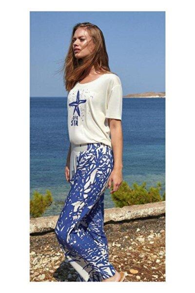Kadın Mavi 8754 Pijama Takım