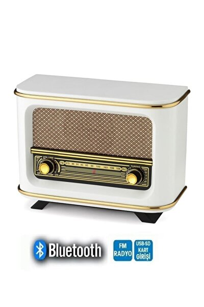 Yeni Model Bluetooth Fm Sd Kart Aux Usb Özellikli Nostaljik Ahşap Radyo Model Retro