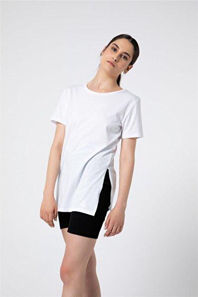 Kadın Beyaz Favorite Basic Uzun T-shirt
