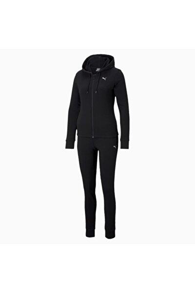 Kadın Kapüşonlu Sweatshirt Takım Classic Hd - Siyah