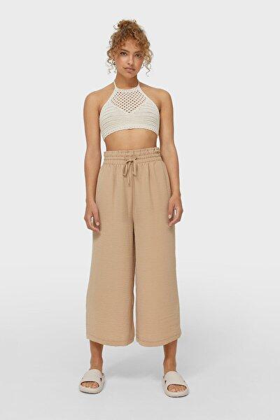 Dökümlü Culotte Pantolon