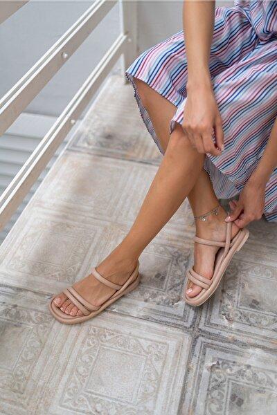 Marylan Kadın Nude Vegan Deri Sandalet