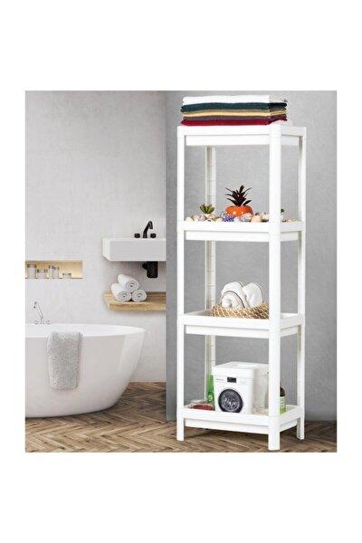 Raf Ünitesi Banyo Mutfak Düzenleyici Modern Raf 3 Katlı Beyaz
