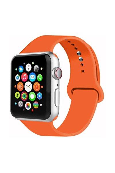 Apple Watch Uyumlu Kordon 2 3 4 5 Seri 38 Mm Ve 40 Mm Silikon Kordon Kayış