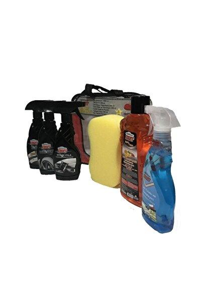 Araç Bakım Seti Lastik Parlatıcı Oto Iç Cila Cam Cilası Oto Şampuanı Süngeri Genel Temizleyici