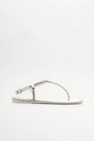 Kadın Beyaz Parmak Arası Sandalet