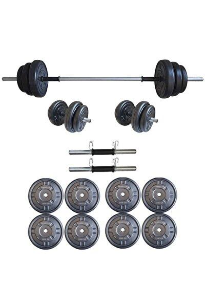 Platinum 25 kg Halter Seti 25 kg Dambıl Seti Ağırlık Seti Vücut Geliştirme Aleti