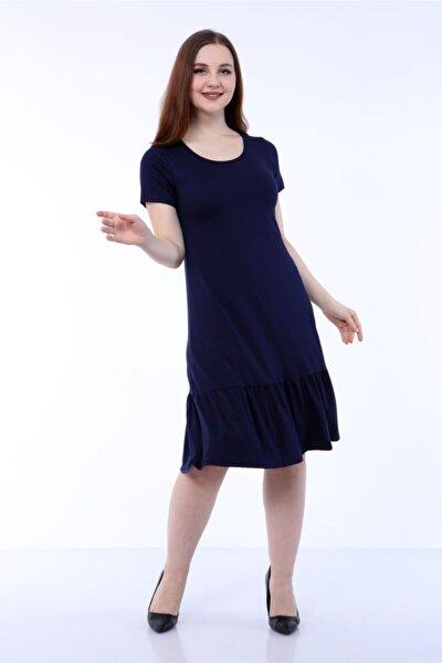 Fırfırlı Kısakol Elbise