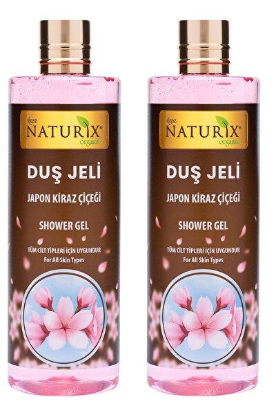 Bitkisel Aromatik Kokulu Japon Kirazı Duş Jeli Japon Kiraz Çiçeği Duş Jeli 400 Ml 2'li Set