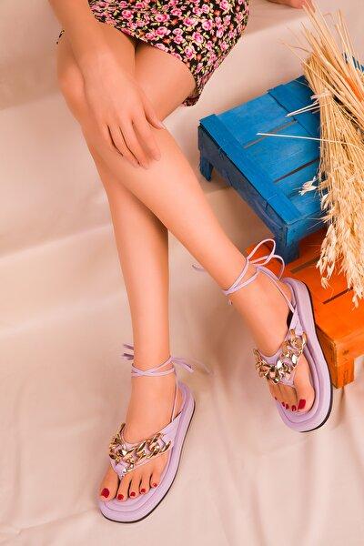 Lila Kadın Sandalet 16366
