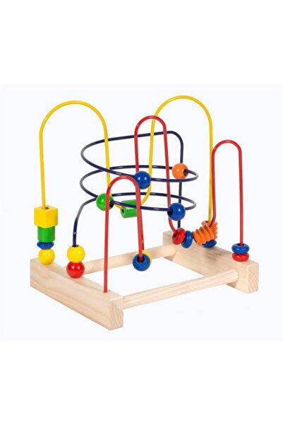 Ahşap Koordinasyon Oyunu Helezon Yay Labirent Eğitici Oyuncak