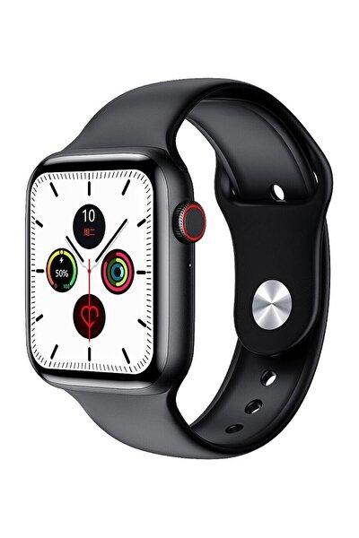 W26+ Watch 6 Plus Yeni Nesil Siyah Türkçe Akıllı Saat Son Sürüm Yan Tuş Aktif