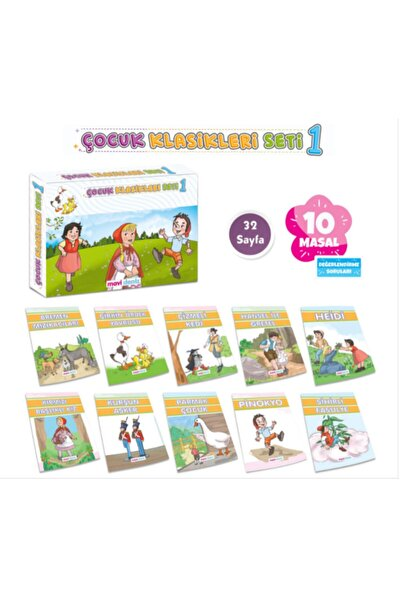 Mavideniz 2. Ve 3. Sınıf Dünya Çocuk Klasikleri-1 Hikaye Seti 10 Kitap