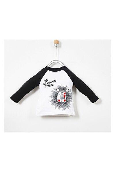 Erkek Bebek Beyaz Uzun Kollu T-shirt 19217083100