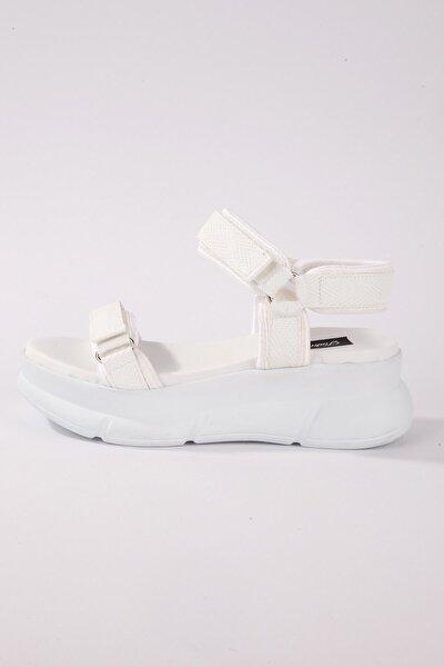 4945 Kadın Sandalet Beyaz
