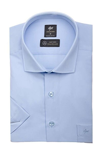 Erkek Regularfıt  Rahat Kalıp Gömlek Kısa Kol
