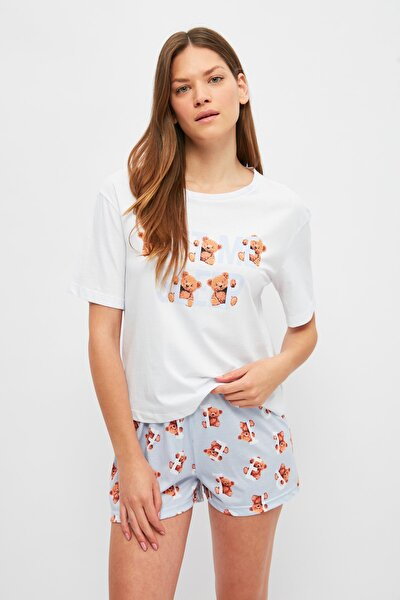 Ayıcık Desenli Örme Pijama Takımı THMSS21PT1357
