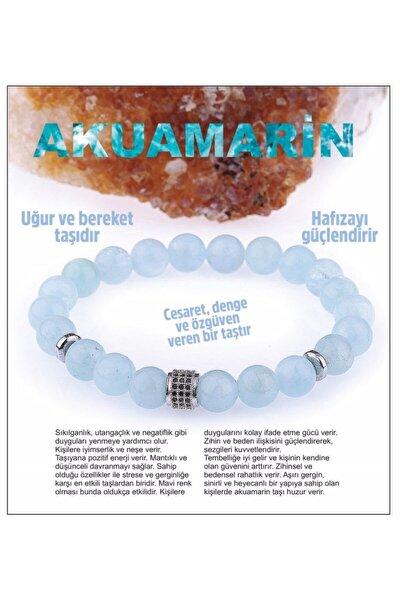 Doğal Taş Bileklik - Akuamarin,aquamarine